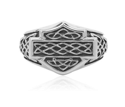 Harley-Davidson .925 Silver Celtic Signet Ring (8)
