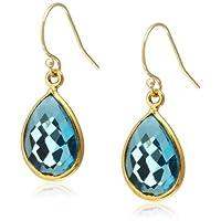 [ダブル・ブイ・ジュエリー] Double V Jewelry スモールティアドロップストーンピアス 0185-G  Blue Topaz