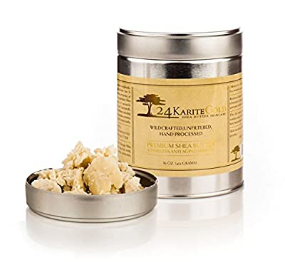True 100% Wildcrafted Raw Shea Butter - Premium, Safe & Secure UV Resistant Packaging -Grade A & ASBI Certified
