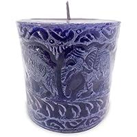 Impressions IM 2 Wax Aromatic Candles (6 Cm X 14 Cm X 14 Cm, Purple)