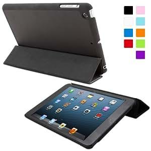 Snugg iPad Mini Ultra Thin Smart Case in Black - Flip Stand Cover with Auto Wake and Sleep for Apple iPad Mini