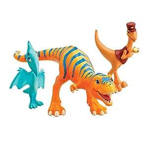 Le Dino Train - LC53052MP - Figurine - Pack 3 Personnages - Dolores, Le Contrôleur, Lili