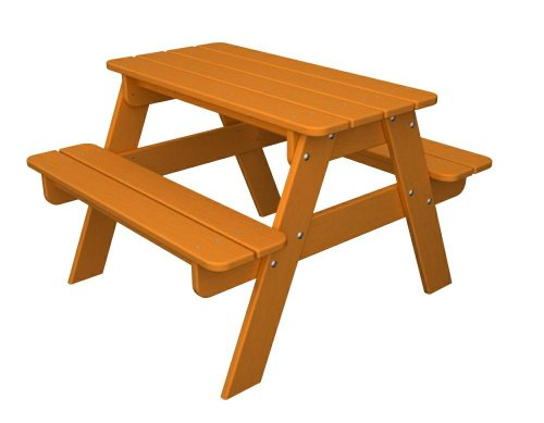 Polywood Outdoor Furniture Kid Picnic Table Tangerine Recycled Plastic Materials Discontinued
