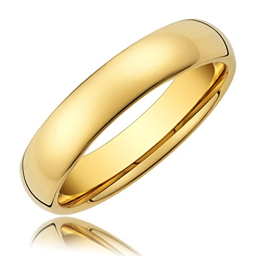 MM-Titanium-Ring-Wedding-Band-14K-Gold-with-Polished-Finish