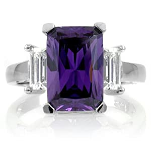 Kobe's Purple Cocktail Ring Size 8