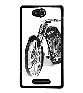 printtech Superfast Bike Back Case Cover for Sony Xperia C , Sony Xperia C HSPA+ C2305