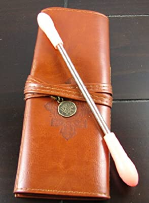 Best Cheap Deal for Hair Removal Kit - Spring Facial Hair Remover (Epilator) Plus Vintage Leather Makeup Case by Bellisima (TM) from At Home Products - Free 2 Day Shipping Available