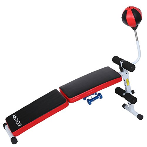 Ancheer Adjustable Folding Gym Weight Bench With Speed