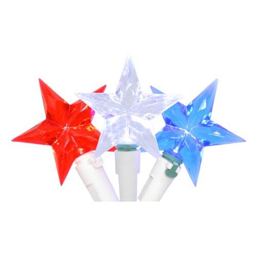 "Sienna 95898 - 30 Light White Wire Red / White / Blue ""Star"" Led Miniature String (661/74436R11)"