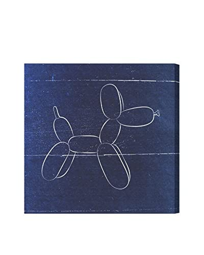 Oliver Gal Hatcher & Ethan 'Balloon Dog Blueprint' Canvas Art