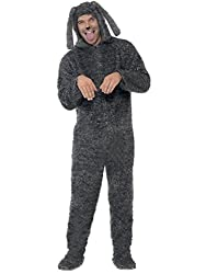 Uwant Fashion Carnival Mens Fancy Dress Costume Fluffy Dog Animal Onesie Outfit Large