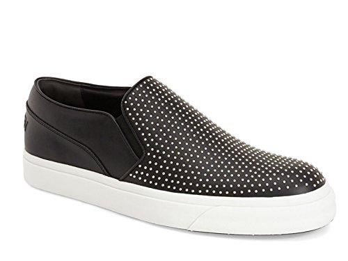 Slip-on sneakers Alexander McQueen uomo in pelle nero - Codice modello: 409629 WHFBB 1000 - Taglia: 40 EU