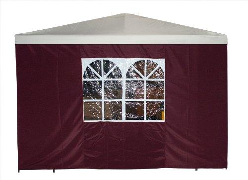 Seitenteil für Pavillon 3×3 Meter mit Fenster, bordeaux günstig online kaufen