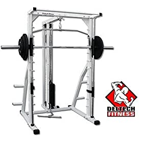 Deltech Fitness Linear Bearing Smith/Lat Combo with 200 lb. Weight Stack