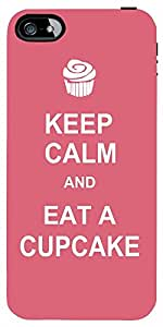 Snoogg Keep Calm And Eat A Cupcake Case Cover For Apple Iphone 4