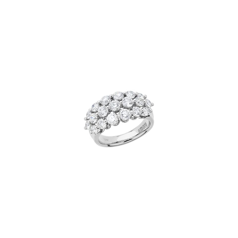 2.55 Carat 18kt White Gold Diamond Ring Jewelry