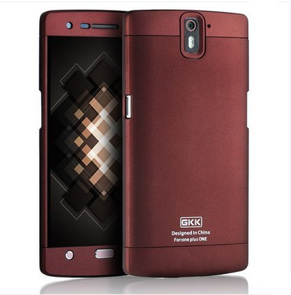 ARMOR GKK 3-in-1 Full Body Protector Hard Plastic Back Case Cover For OnePlus One - Maroon+Maroon+Maroon
