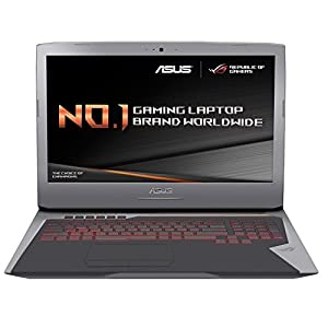 "ASUS ROG GL752VM-GC010T 17.3""Gaming Laptop (Grey) (Core i7-6700HQ 2.6 GHz, FHD 1920x1080, NVIDIA Pascal GTX1060, 16GB, 1TB + 256GB SSD, Windows 10)"