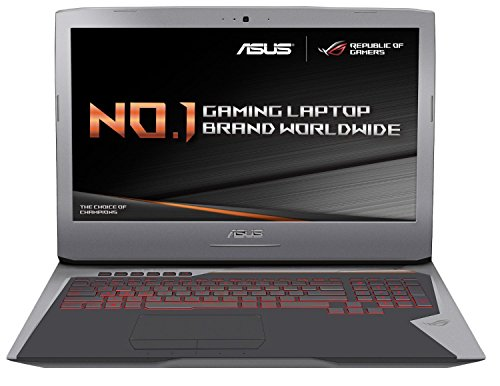 Asus rog g752vy gc284t 173 inch gaming laptop grey intel core i7 6820hk 27 ghz processor 32 gb ram 1 tb hdd plus 512 gb pcie ssd nvidia geforce gtx980m graphics card windows 10