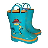 Disney Phineas and the Ferb Boy's Rain Boots Sizes 7/8, 9/10 and 11/12
