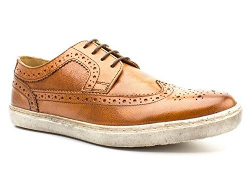 Base London Sneaker Uomo Empress Stringata Leather Softy Tan-41