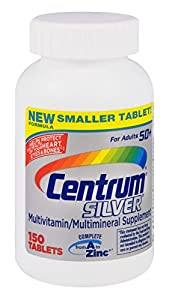Centrum Centrum Silver Multivitamin And Multimineral For 50 Plus Adult - 150 Tablets, 3 Pack