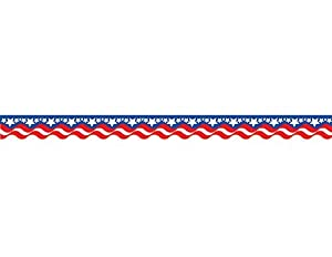 Amazon.com : Teacher Created Resources Patriotic Border Trim, Multi