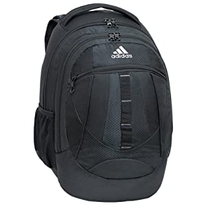 adidas Hickory Backpack, Black, 19 x 14 x 11-Inch