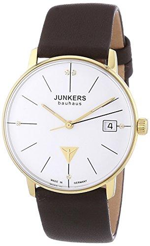 Junkers  Bauhaus - Reloj de cuarzo para mujer, con correa de cuero, color marrón
