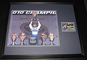 Jimmie Johnson Signed Framed 16x20 Photo Poster Display Holding Trophy by The+Steel+City+Auctions+Gallery