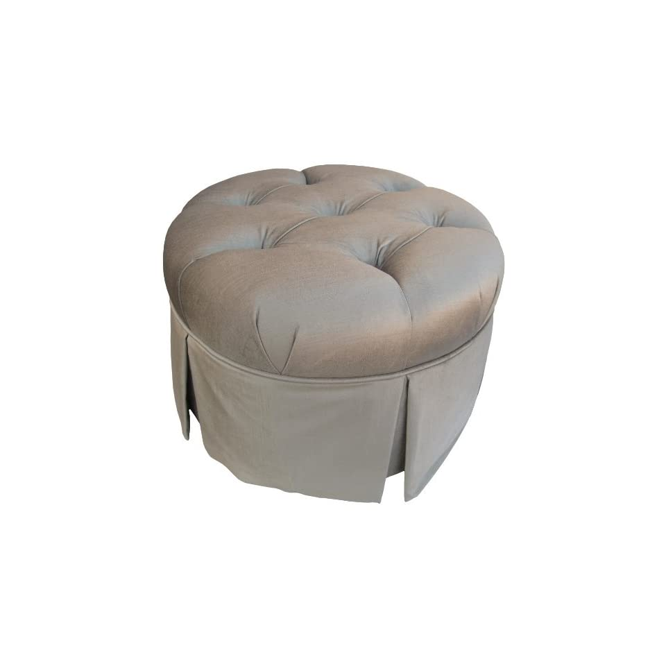 Shop Angel Song Aspen   Silver Park Avenue Round Adult Stationary Ottoman at the  Furniture Store. Find the latest styles with the lowest prices from Angel Song