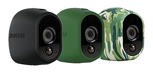 Netgear VMA1200-10000S Pack de 3 Housses Camouflage Caméra ARLO ( Noir, Vert, Camouflage)