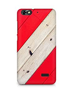 Amez designer printed 3d premium high quality back case cover for Huawei Honor 4C (Stripe Red Wood Pattern)