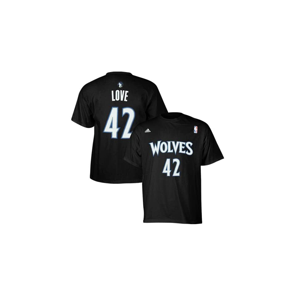 694de18a0 NBA adidas Kevin Love Minnesota Timberwolves #42 Net Number T shirt Black