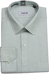 Chairman Men's Cotton Shirt (romch9145green_40, Green, 40)