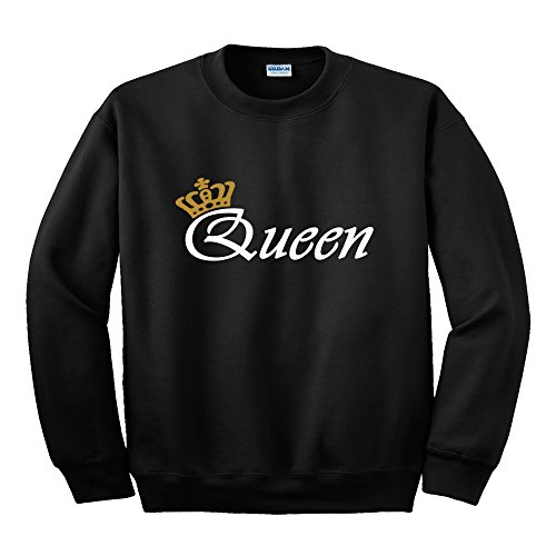 King Corona o. Regina Corona Felpa Oro scrittura sua altezza reale o sua altezza reale BLACK QUEEN XXL / 132,08 cm