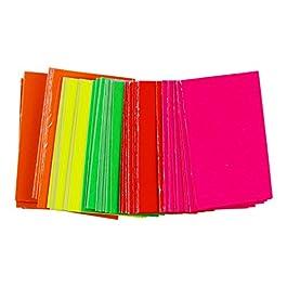 480x néon fluorescent Coupe Carte Retail Globrite Bright couleurs assorties-8x 5cm (7,6x 5,1cm)