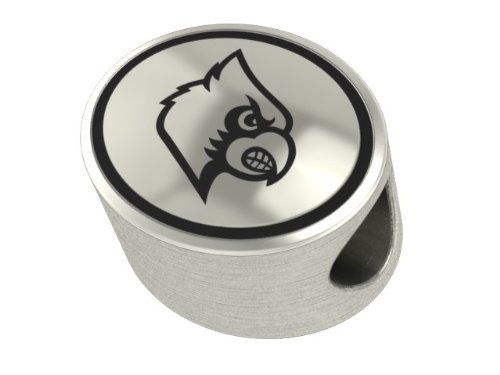 Louisville Cardinals Collegiate Bead Fits Most Pandora Style Bracelets Including Pandora, Chamilia, Biagi, Zable, Troll and More. High Quality Bead in Stock for Immediate Shipping