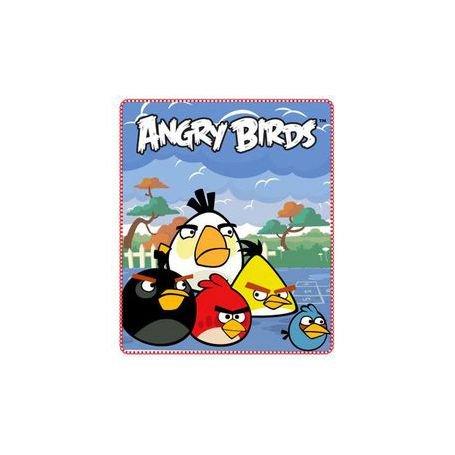 Plaid - Couverture polaire Angry Birds 120 x 140 cm