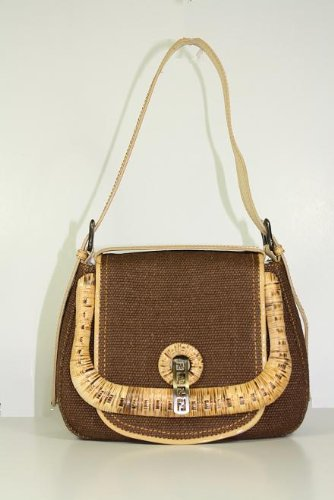 Fendi Handbags Brown – Gold (Yellow) 8BR544
