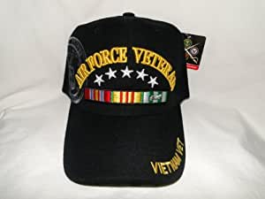 New! United States Air Force Veteran Black Velcro Hat