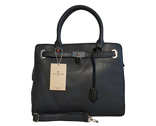Borsa donna David Jones in ecopelle modello Kelly - grigio scuro