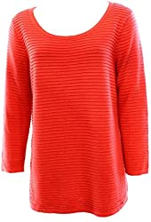 Calvin Klein Coral Women's Medium Ribbed Knit Pullover Sweater
