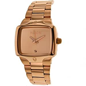 Amazon.com: NIXON Women's A300-897 Stainless Steel Analog Gold Dial