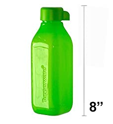 Tupperware ECO Square Water Bottle 16 Oz - Green.