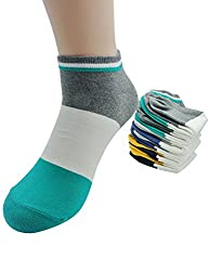 Milo Toe Men's 6-Pack Cotton Colorful Block Low Cut Ankle Socks