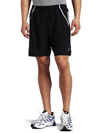adidas Men's Response DS 7-Inch Short, Black/White/Light Onix, X-Small