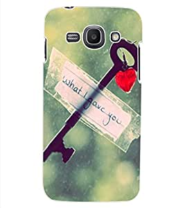 ColourCraft Love Key Design Back Case Cover for SAMSUNG GALAXY ACE 3 3G S7270