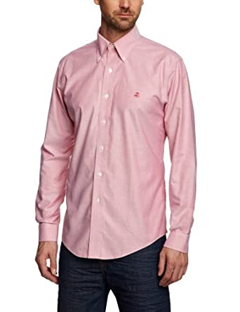 Brooks brothers non iron oxford solid slim men 39 s shirt red for Brooks brothers non iron shirt review