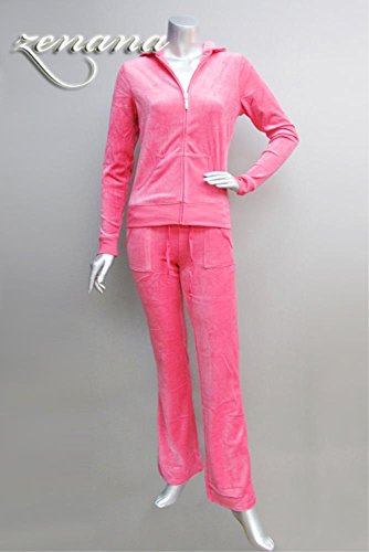 Zenana Women's Velour Tracksuit Hoodie and Pants Set